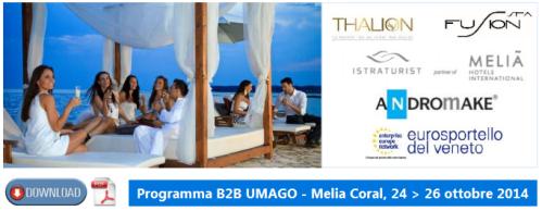 B2B a Umago in Croazia. Meeting internazionale sul TURISMO delle EMOZIONI 24, 25 e 26 ottobre 2014 PNG