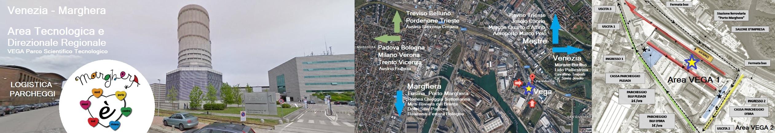 VEGA banner con foto torre hammon mappa e piantina google map - studio baroni