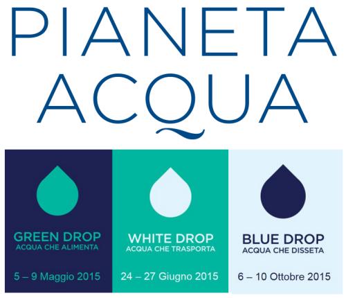 Pianeta Acqua EXPO Milano - eambiente - drop green white  blue - news 2015 studio baroni ISO26000