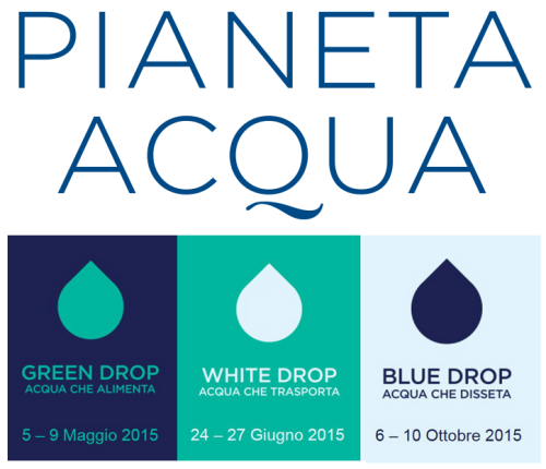 Pianeta Acqua EXPO Milano - eambiente - drop green white  blue - news 2015 studio baroni ISO26000
