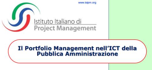 banner Portfolio Management ICT della  PA Pubblica Amministrazione by ISIPM 2015