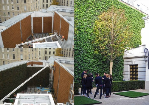 by poliflor - flexiverde greenwall Abercrombie store Paris - green economy studio baroni