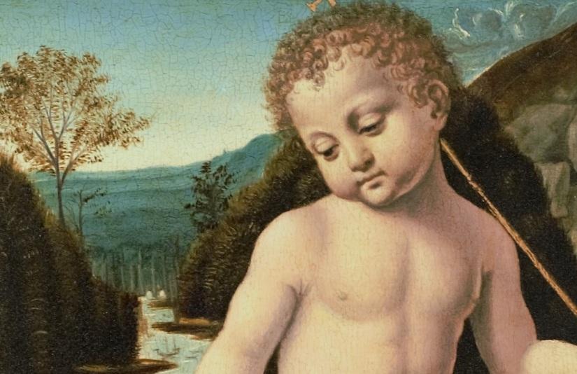 02 OK Bernardino de Conti - I 3 santi fanciulli LEONARDO DA VINCI a Venezia Mostra Palazzo Lolin San Marco 2893 Accademia Canal Grande - Fondazione Levi.jpg
