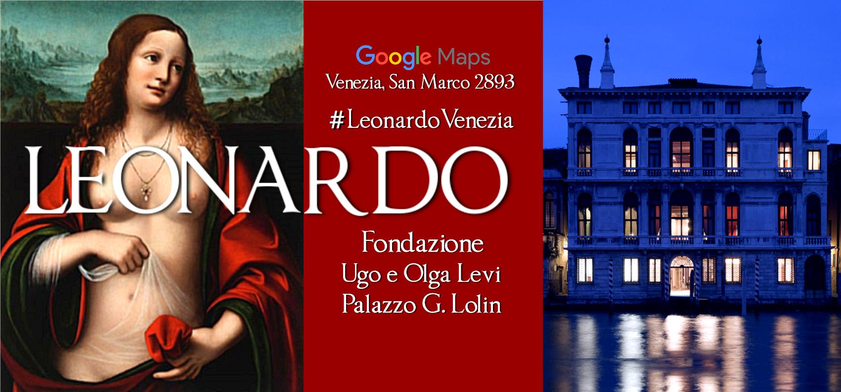 banner LEONARDO a Venezia Mostra Palazzo Lolin San Marco 2893 Accademia Passeggiate a Venezia Maria Cristina Bernardi VeneziaEventi.png